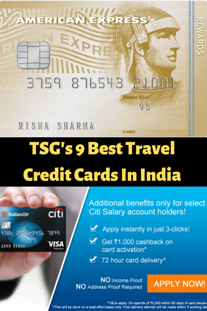 best travel credit cards in india 2021